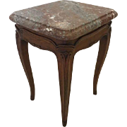 Vintage Table Marble Top Mahogany Or Walnut Table Small Size