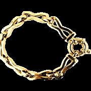 """Italian Fancy Link Unisex Bracelet 9K Yellow Gold 7"""""""