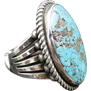 Perry Shorty, Navajo Morenci Turquoise Ring