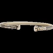 David Yurman 2 x Large Sterling Silver Cable Bracelet.