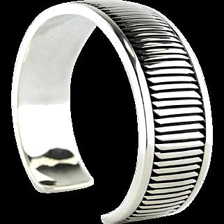 Allison Snowhawk Lee Sterling Silver Cuff Bracelet.
