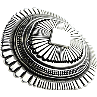 Navajo Ron Bedonie Belt Buckle. Signed