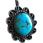 """ Turquoise Pendant Sterling Silver."""