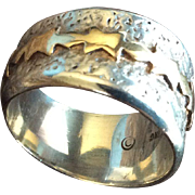 """Alfred Joe 14k Gold Over Sterling Silver Ring. Navajo"