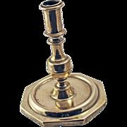 Rare 17 Century Spanish Brass Candlestick - 4