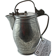Rare 19th Century German Pewter Flagon - 1