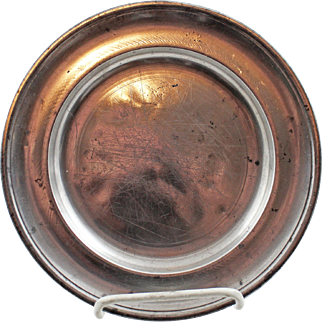 18/19 Century American  Parks Boyd Pewter Plate - 1