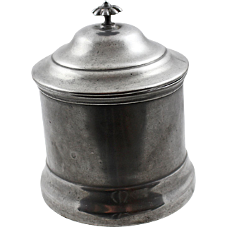 19 Century American Pewter Tobacco Jar