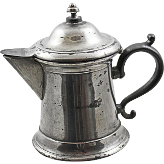 19 Century American Pewter Syrup