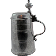 19Century German Pewter Stein from Nuremberg