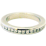 Platinum Diamond Wedding Band or Stackable Ring