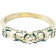 18KT White Gold 1.25 CT Modern Diamond Wedding Band or Stackable Ring