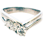 Natural Diamond Engagement Ring or Wedding Band in Platinum
