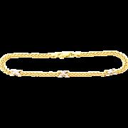 Natural Diamond Bracelet 14KT Yellow Gold Bracelet