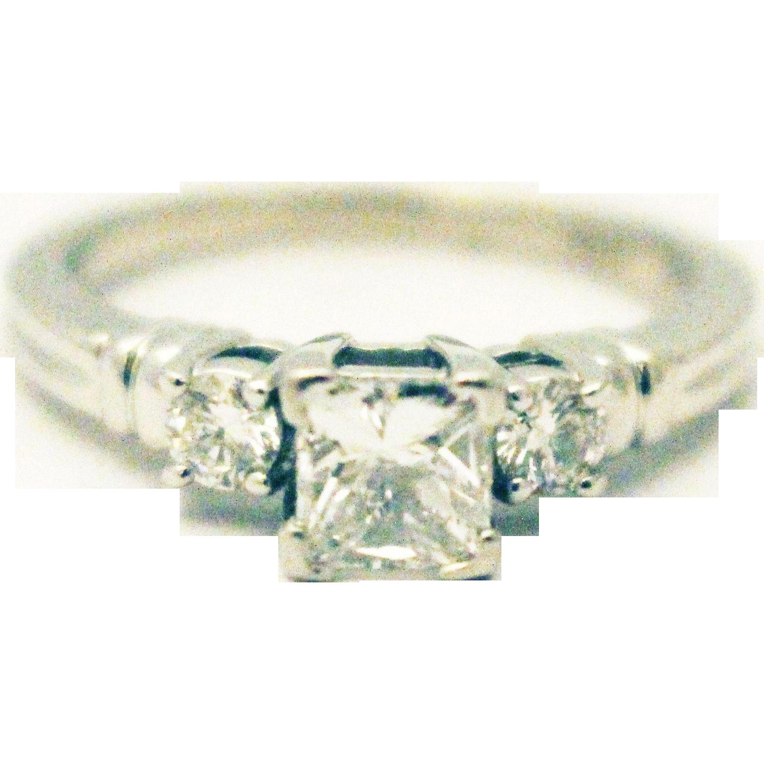 natural princess cute diamond engagement ring or wedding