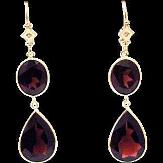 Rare Handmade 22.5CT Garnet Diamond 14KT Gold