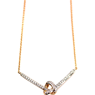 Natural Diamond Pendant Necklace in 14KT Rose Gold