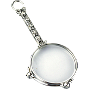 Platinum Diamonds Art Deco Lorgnette or Opera Glasses