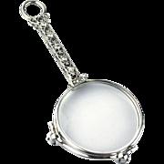Platinum Diamonds Art Deco Lorgnette or Opera Glasses