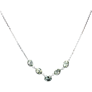 Paraiba Blue Tourmaline Necklace in 14KT White Gold