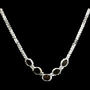Honey Tourmaline Necklace in 14KT White Gold