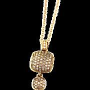 Modern Diamond Necklace 14KT Rose Gold