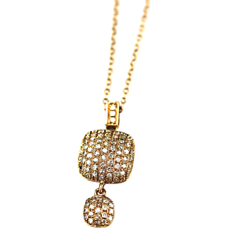 Modern Diamond Necklace 14KT Rose Gold
