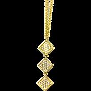 Modern Diamond Necklace 14KT Yellow Gold
