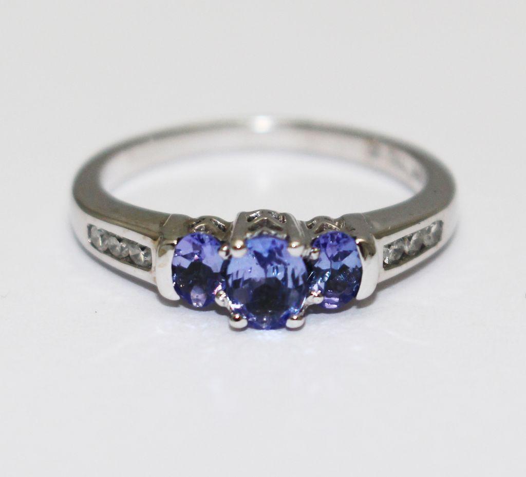 Beautiful Tanzanite: 1CT Most Beautiful Natural Tanzanite Diamond Ring 14KT