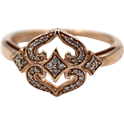 Natural Diamond Ring in 10KT Rose Gold