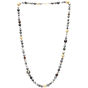 Cultured Golden South Sea and Tahitian Pearl Necklace in 14KT Gold