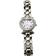 Diamond Corum Heart Beat Stainless Steel Wristwatch