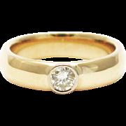 Modern Diamond Wedding Band Ring in 14KT Gold