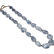 300 CT Natural Faceted Rainbow Moonstone Geometric Handmade Sterling Silver Necklace