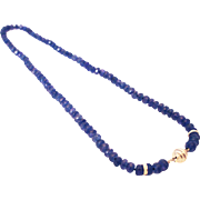 150 CT Natural Faceted Tanzanite Diamond Necklace 14KT White Gold