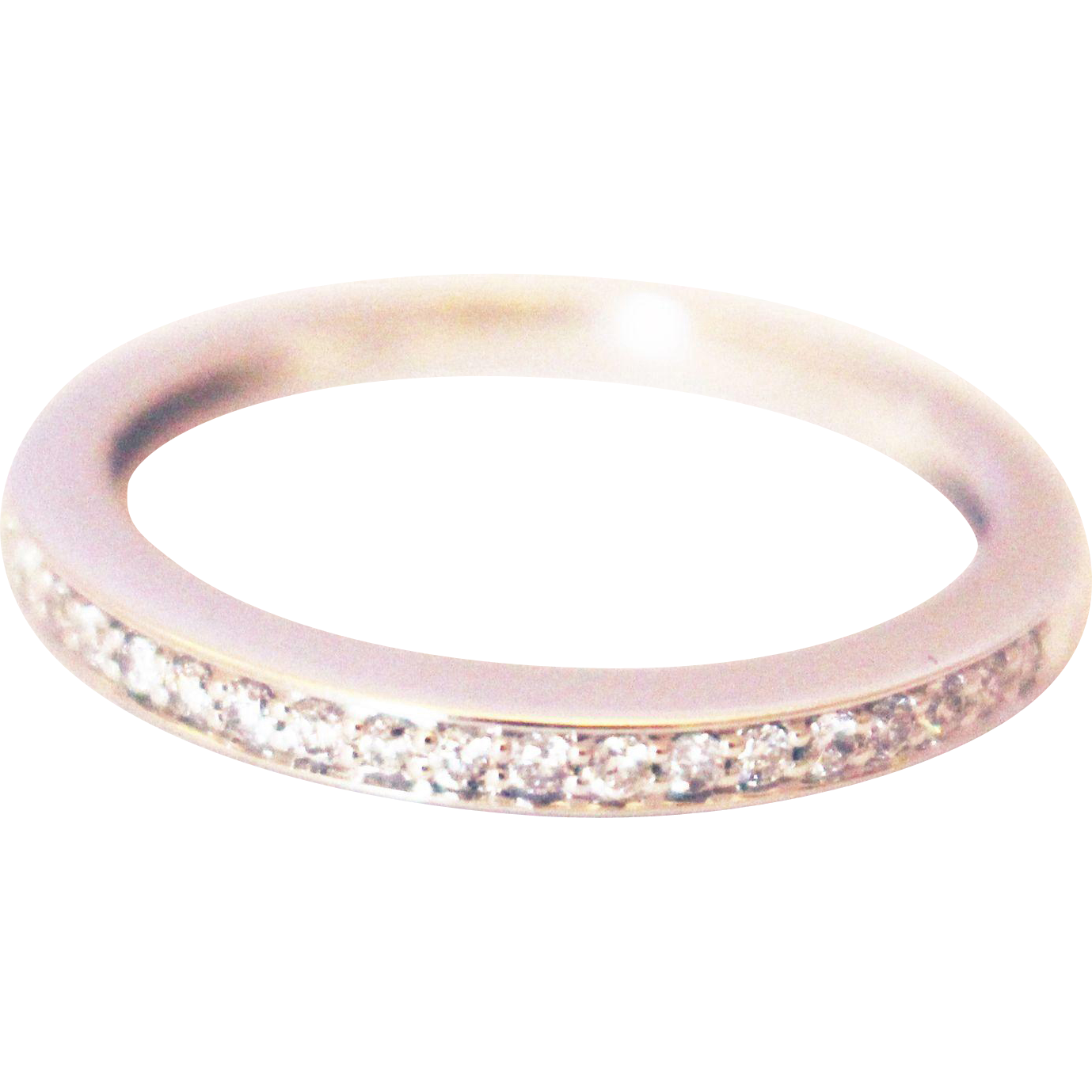 modern wedding band or stackable ring in 14kt