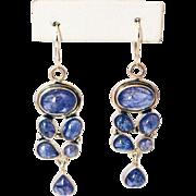 Handmade Natural Tanzanite Earrings in Sterling Silver