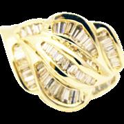 Bold Elegant Modern Natural Diamond Cocktail Ring