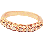 Natural Art Deco Diamond Ring in Rose Gold