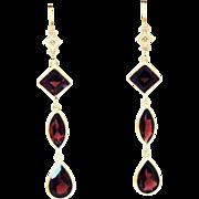 Handmade Rare Natural 13CT Garnet Diamond 14KT Gold