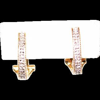 Diamond Designer Earrings 14KT Yellow Gold