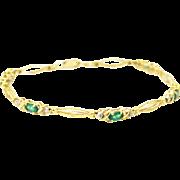 2.5 CT Colombian Emerald Bracelet Yellow Gold Bracelet