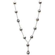 12mm Baroque Cultured Tahitian Pearls Necklace 14KT White Gold
