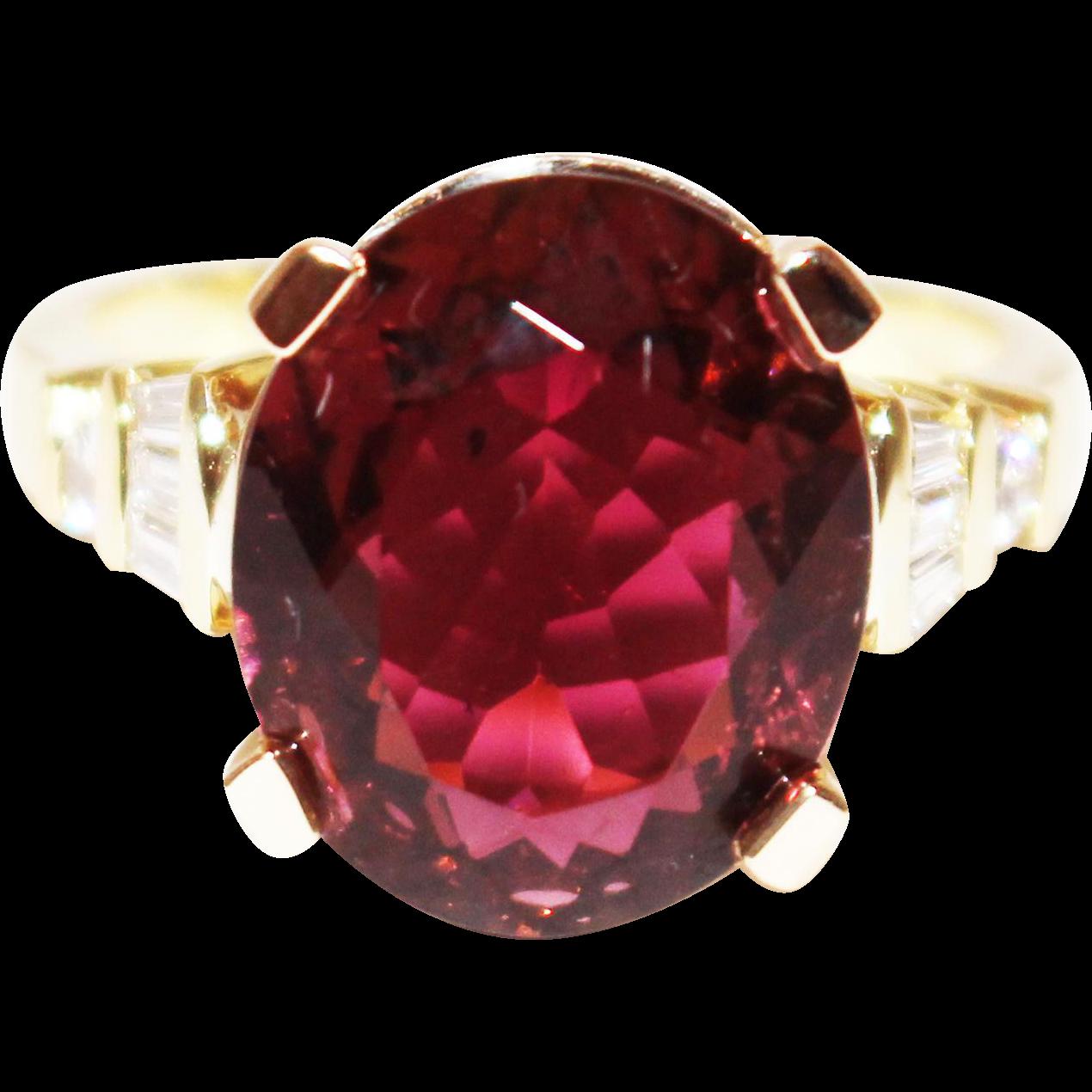 9 CT Natural Raspberry Pink Red Rubellite Tourmaline