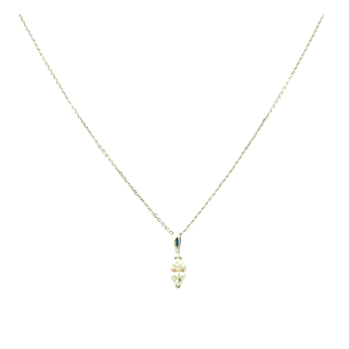Marquise Cut Diamond Necklace 14KT Gold
