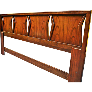 Mid Century Danish Style King Headboard by United