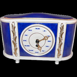 German Lenzkirch Clock Company, Weimer Porcelain case circa 1920