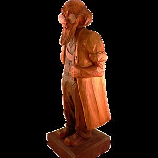 German Whistler Wooden Carved Statue Doctor Eisenbarth circa 1900-20.