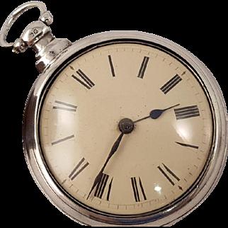 1825 Silver Verge Fusee Watch, London
