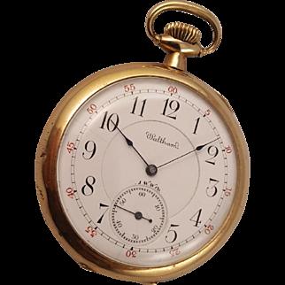 1896 Waltham Maximus Pocket Watch 21 Jewel